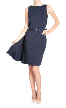 Christian Dior Sleeveless Belted Dress