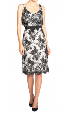 Christian Dior Embellished Lace Dress