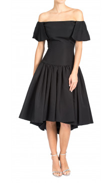 Christian Siriano Silk Off The Shoulder Dress