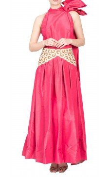 Custom Silk Embellished Gown