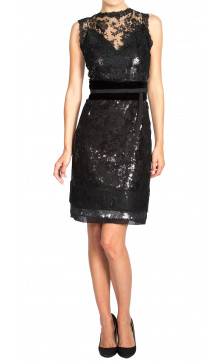 Dolce & Gabbana Lace Sequined Dress
