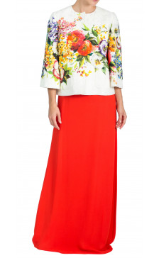 Dolce & Gabbana Long Sleeve Floral Jacket