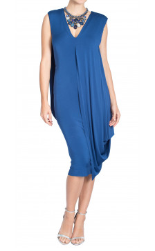 Donna Karan Drape Jersey Dress
