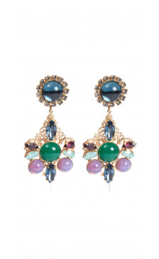 Erickson Beamon Multicolored Drop Earring