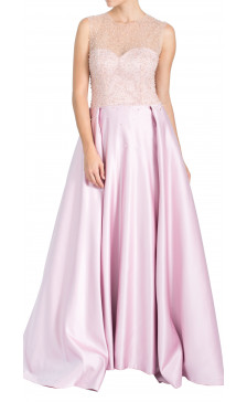 Fadwa Baalbaki Embellished Sleeveless Gown
