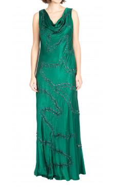 Giorgio Armani Beaded Silk Gown