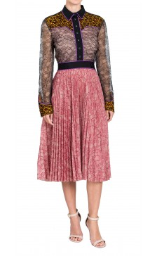 Gucci Georgette  Lace Dress