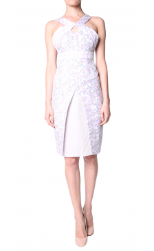 Holly Fulton print cross over strap dress