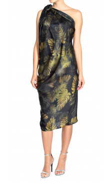 Lanvin Asymmetric  Printed Dress