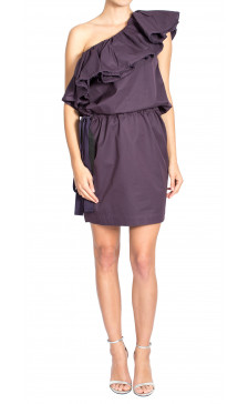 Lanvin Asymmetric Ruffled Dress