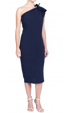 Lanvin Asymmetric Silk Dress