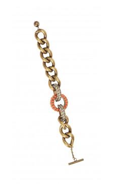Lanvin Chain Stone Embellished Bracelet