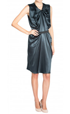 Lanvin Draped Belted Dress