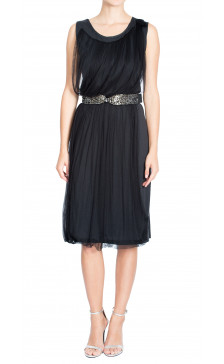 Lanvin Embellished Tulle Dress