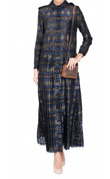 Lanvin Pleated Print Dress