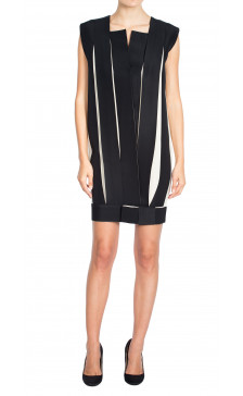 Lanvin Pleated Two-Tone Dress