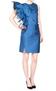 Lanvin Silk Asymmetric Dress