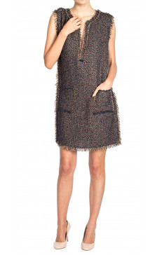 Lanvin Sleeveless Woven Dress