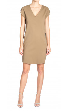 Lanvin Straight Cut V-Neck Dress