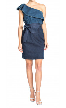 Lanvin Strapless Denim Dress