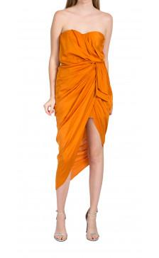 Lanvin strapless draped dress