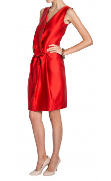 Lanvin Wrap Silk Dress