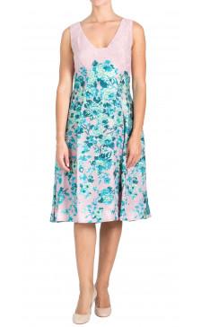 Lela Rose Sleeveless Printed Dress