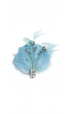 Liza Georgia Millinery Feather Fitted Hat