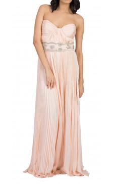 Lorena Sarbu Strapless Embellished Gown