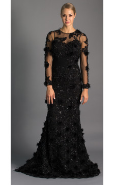 Maison Elegance Haute Couture Embellished Evening Gown