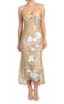 Marchesa floral & lace corset dress
