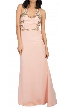 Marchesa Notte Embellished Halter Gown