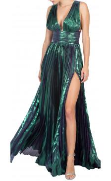 Maria Lucia Hohan Lurex Chiffon Dress