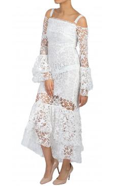 Maria Lucia Hohan Seaworld Lace Midi Dress
