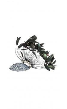 Marilena Romeo Millinery Peacock Hat