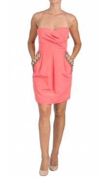 Matthew Williamson Strapless Mini Dress