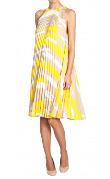 Max Mara Pleated Print Dress