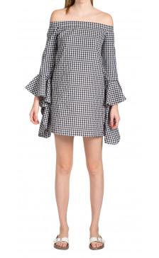 MLM LABEL Off The Shoulder Print Dress