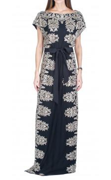 Naeem Khan Metallic Embroidered Dress