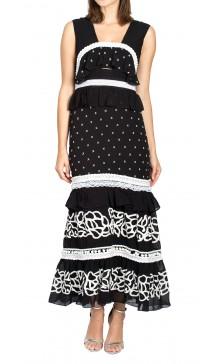 Nicole Miller Embroidered Midi Dress