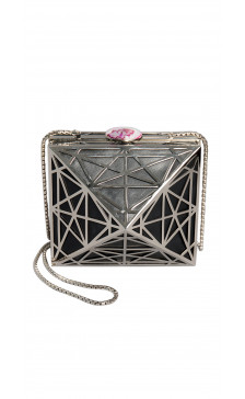 NS by Noof Laya  Hard-Leather Clutch