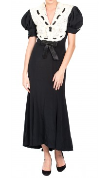 Odicini Couture Bell-sleeved Dress