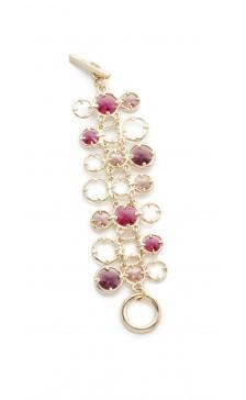 Oscar De la Renta Crystal Chain Bracelet