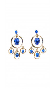 Oscar De la Renta Crystal Drop Earring