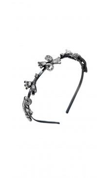 Oscar De la Renta Crystal Flower Headband