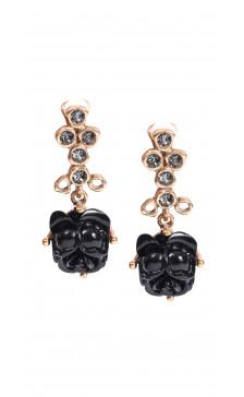 Oscar De La Renta Floral Stone Drop Earring