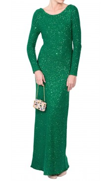 Oscar De la Renta Long Sleeve Knitted Dress