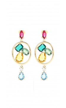 Oscar De la Renta Multicolor Drop Earring