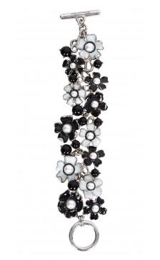 Oscar De la Renta Pearl-Enamel Bracelet