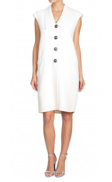 Oscar De La Renta Sleeveless Wool Dress